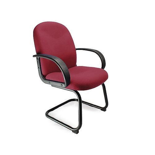 Cantilever Fabric Visitors Chair Wine