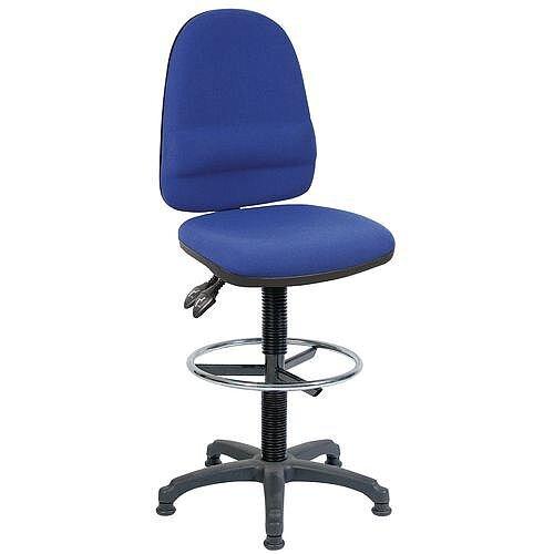 High Back Draughter Chair With Lumbar Support H690 - 840mm Blue