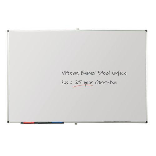 Writeon Premium Vitreous Enamel Magnetic Steel Whiteboard 1200X1200mm