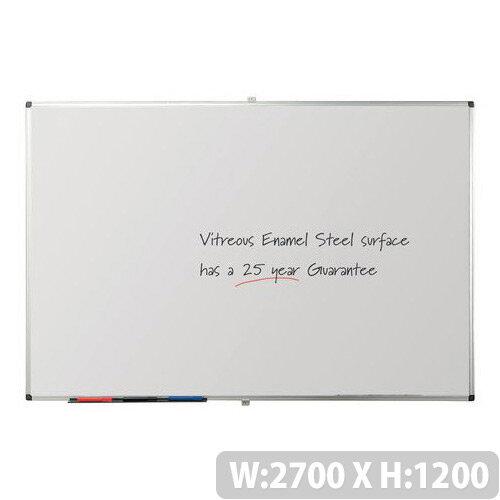 Writeon Premium Vitreous Enamel Magnetic Steel Whiteboard 1200X2700mm