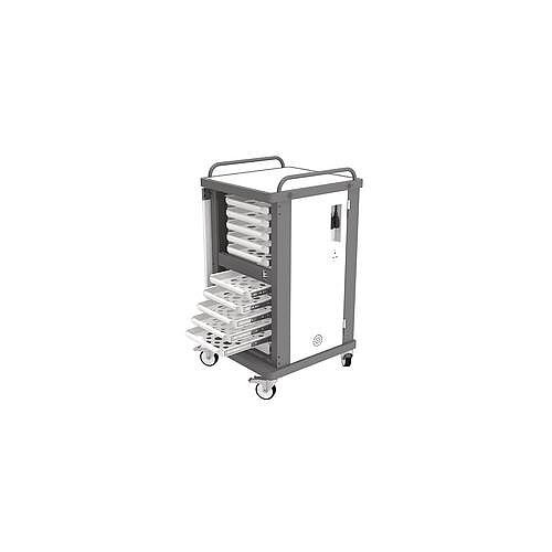 Heavy Duty Laptop Storage Trolley Holds Up To 10 Mid Size Laptops