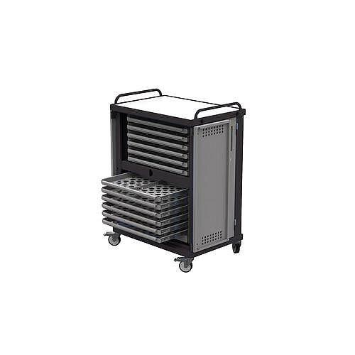 Heavy Duty Laptop Storage Trolley Holds Up To 24 Mid Size Laptops