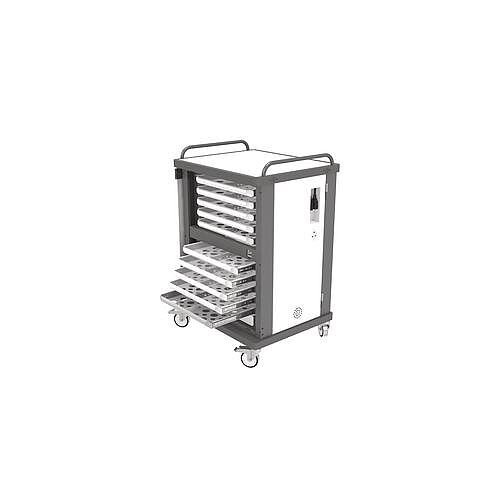 Heavy Duty Laptop Storage Trolley Holds Up To 10 Large Size Laptops