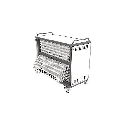 Heavy Duty Laptop Storage Trolley Holds Up To 20 Large Size Laptops