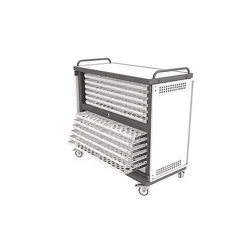 Heavy Duty Laptop Storage Trolley Holds Up To 24 Large Size Laptops