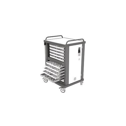 Heavy Duty Laptop Storage Trolley Holds Up To 20 Small Sized Laptops