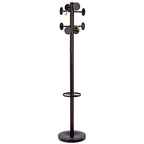 Classic Coat And Umbrella Stand Black