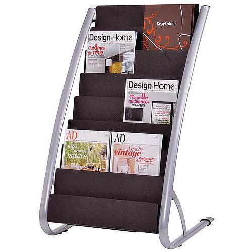 Static Literature Display Stand 8 Pocket
