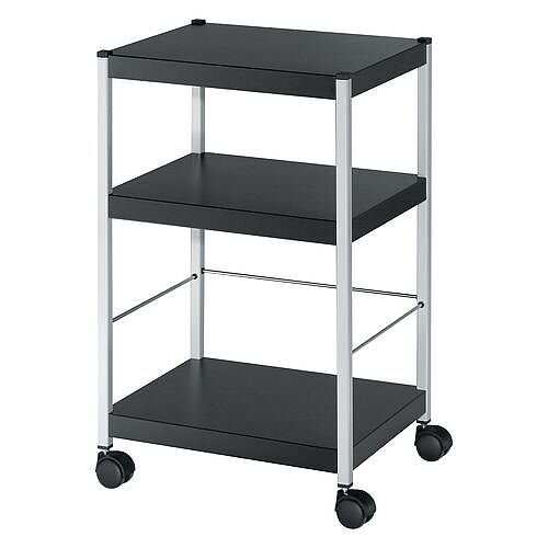 3 Shelf Office Trolley 740mm High 4 Lever Arch Files Per Shelf