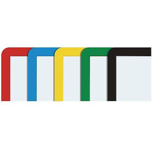 Document Frame A4 Magnetic Mixed Colours Pack of 10