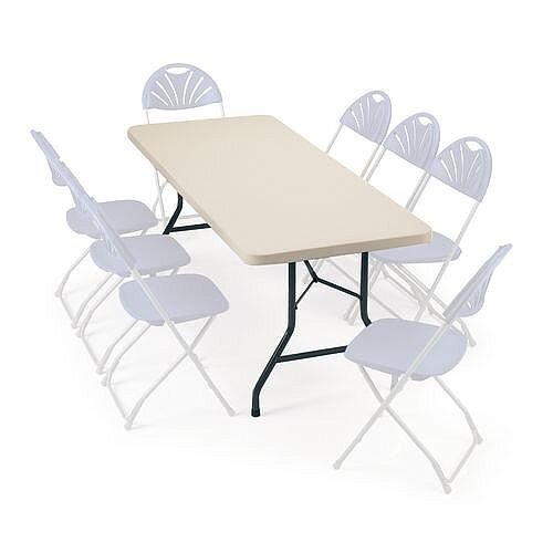 Polyfold Lightweight Rectangular Folding Table 1220mm