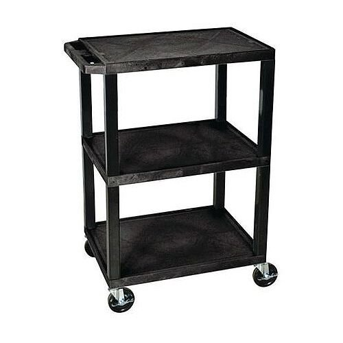 Heavy Duty Two And Three Tier Plastic Trolley 3 Flat Shelves
