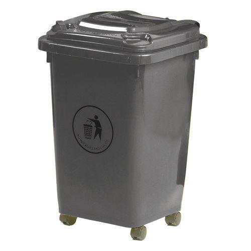 50L Wheelie Bin 4 Wheeled Waste Dark Grey