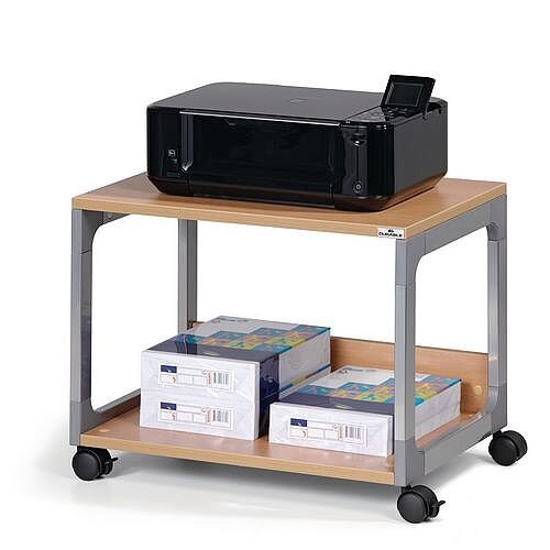 Office Multi Function &Printer Trolley Beech