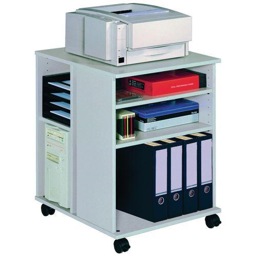 Multi Function Office Storage Trolley Grey