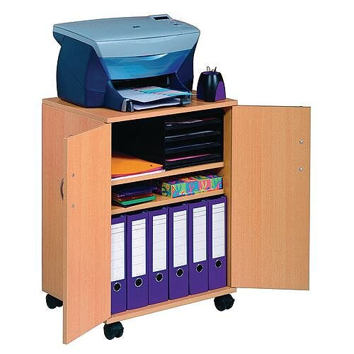 Closed Door Multi Function Trolley Beech