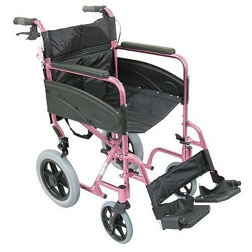 Compact Transport Wheelchair Pink
