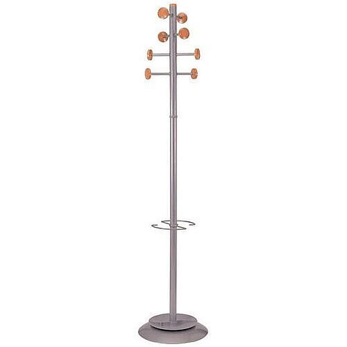 Timber And Steel Coat Stand