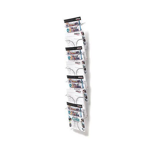 Wall Mounted Wire Literature Dispenser 7 Pockets