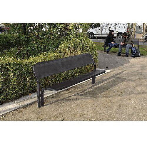 Contemporary Steel Seat Black