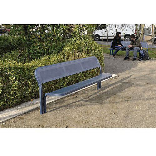Contemporary Steel Seat Grey