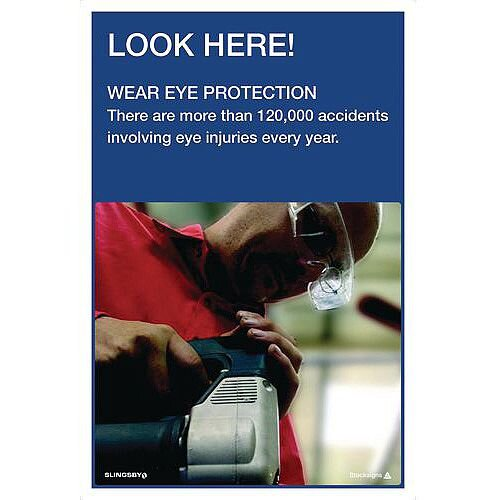 Poster Look Here Wear Eye Protection 760X510 Paper