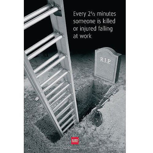 Poster Every 2 1 2 Mins Someone Is Killed By Falling 760X510 Paper