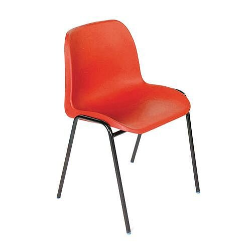 Polypropylene Stacking Chair Red