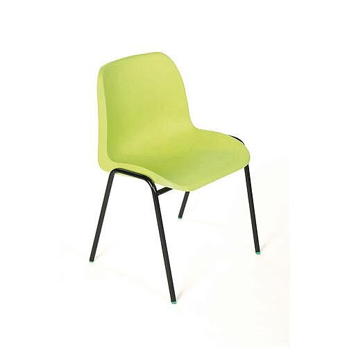 Polypropylene Stacking Chair Lime