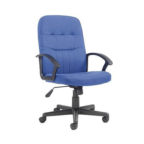 Fabric Managers Office Chair Blue