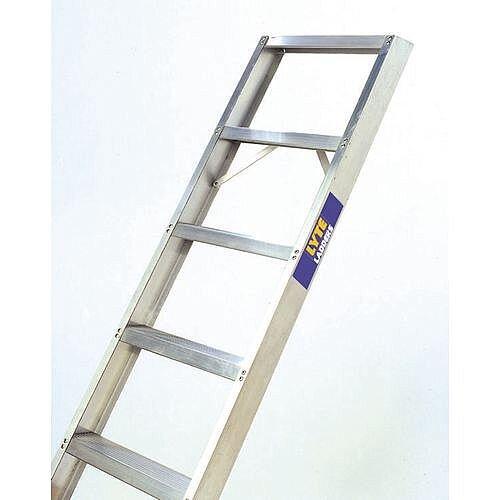 Single Straight Shelf Aluminium Ladder No Of Rungs 11 Height 2.68m Silver