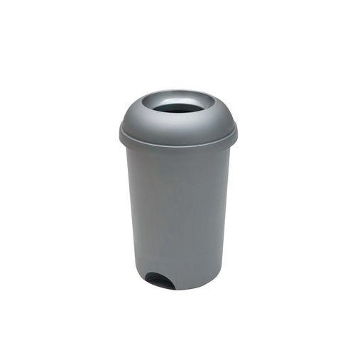 Open Top Waste Bin 50L Metallic