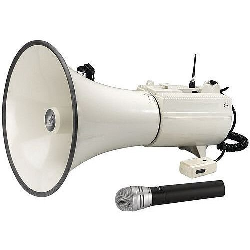45W Megaphone With Microphone Transmitter