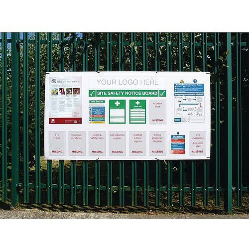 Project Site Safety Board 2100x1100mm