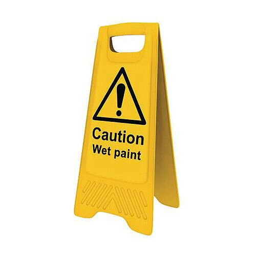 Heavy Duty Pre Printed A Board Caution Wet Paint 620x300mm Ref 394573