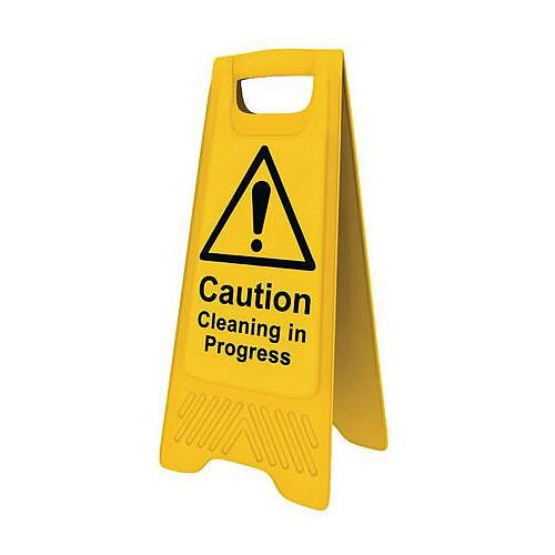 Heavy Duty Pre Printed A Board Caution Cleaning In Progress Ref 394620