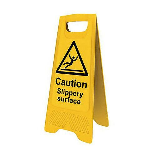 Heavy Duty Pre Printed A Board Caution Slippery Surface 620x300mm Ref 394621