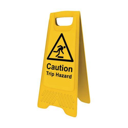 Heavy Duty Pre Printed A Board Caution Trip Hazard 620x300mm Ref 94623