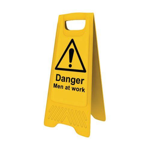 Heavy Duty Pre Printed A Board Danger Men At Work 620x300mm Ref 394627
