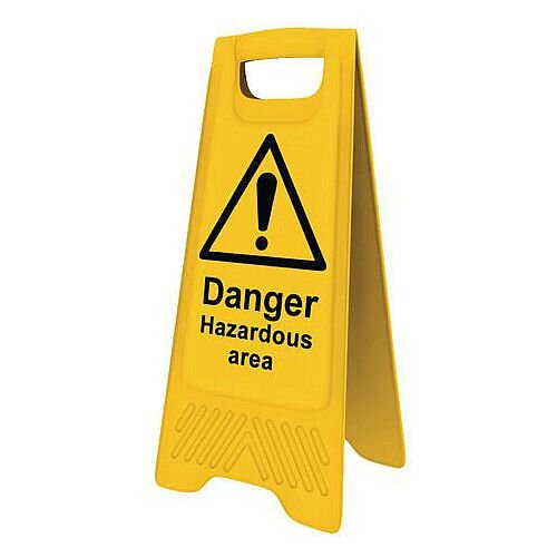 Heavy Duty Pre Printed A Board Danger Hazardous Area 620x300mm Ref 394629