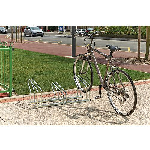 Nesting Floor Mounted Cycle Rack Single Sided 3 Bike Capacity