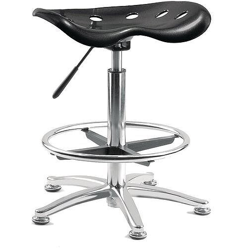 Tek Posture Stool With Seat Gas Lift Black