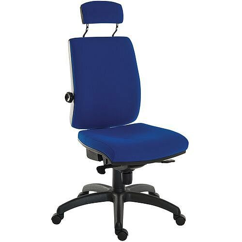 Ergo Plus 24 Hour Executive Ergonomic Posture Task Operator Office Chair With Headrest Fabric Blue