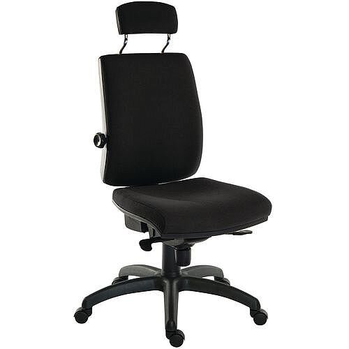 Ergo Plus 24 Hour Executive Ergonomic Posture Task Operator Office Chair With Headrest Fabric Black