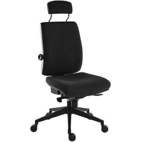 Ergo Plus Ultra 24 Hour Executive Ergonomic Posture Office Chair With Headrest Fabric Black