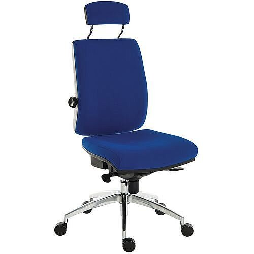 Ergo Plus Premier 24 Hour Executive Ergonomic Posture Office Chair With Headrest Fabric Blue
