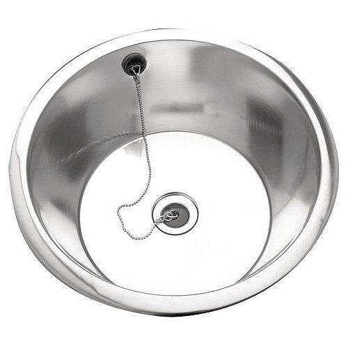 Rimmed Edge Round Inset Sink Bowl 305Diax160mm