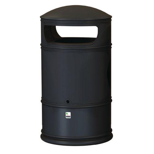 Heritage Outdoor Lite Bin Black 100L