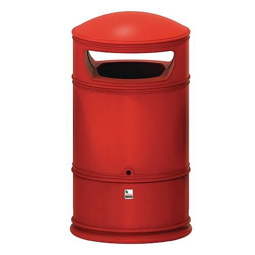 Heritage Lite Bin Red 100L