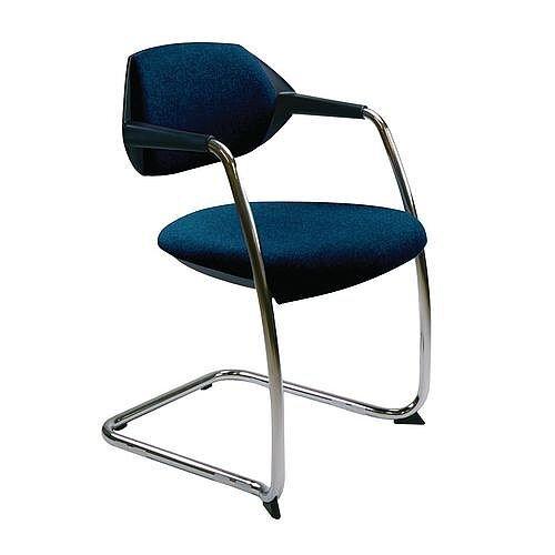Flex Conference &Vistors Cantilever Chair Deep Blue